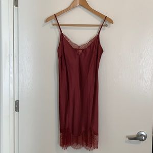 NWT! Burgundy Victoria Secret Slip